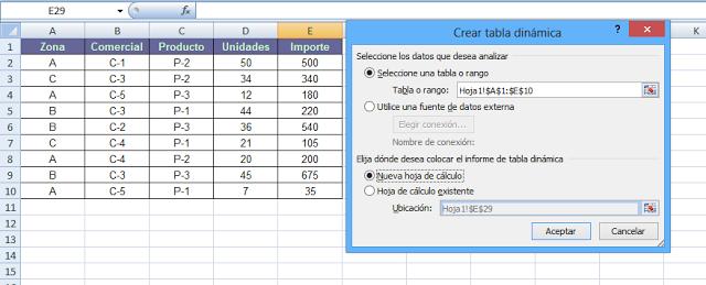 Seleccionar rango tabla dinamica